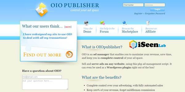 oio publisher affiliate plugin wordpress